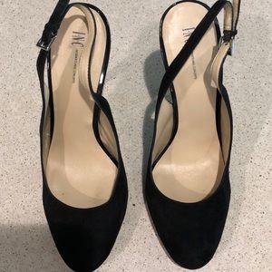 """Black Velvet 3"""" heel"""